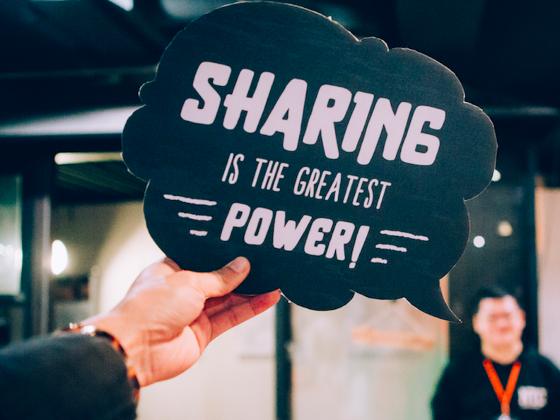 Sharing is the Greatest Power