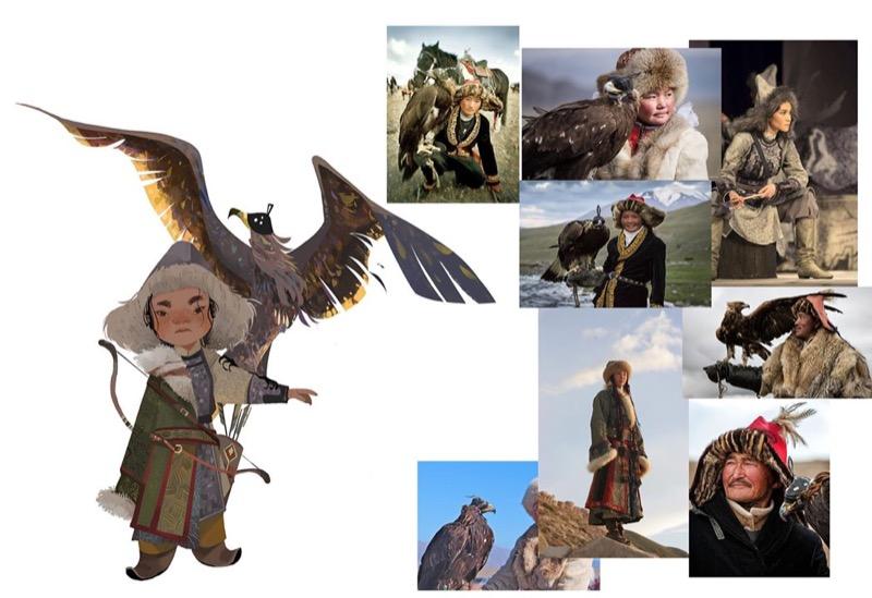 水晶孔 蒙古獵鷹人